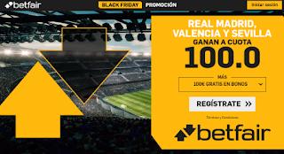betfair supercuota 100€ + 100€ Black Friday 30 noviembre 2019