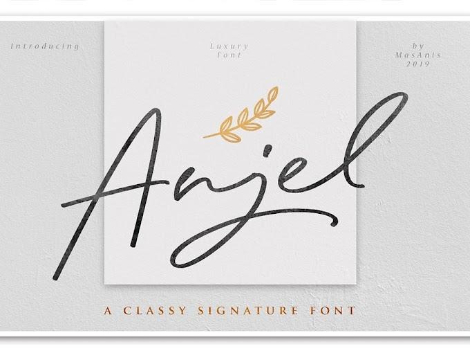 Download Anjel Signature Font