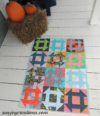 churn dash baby quilt bright color quilt
