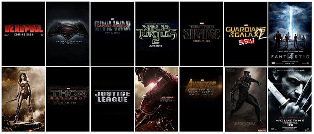 Daftar Film Superhero Terbaru 2015 - 2019