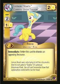 My Little Pony Lemon Hearts, Contents Under Pressure Marks in Time CCG Card