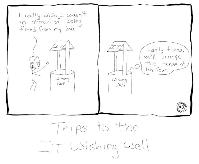 cartoon, humor, IT, IT Wishing Well, Frankenstein