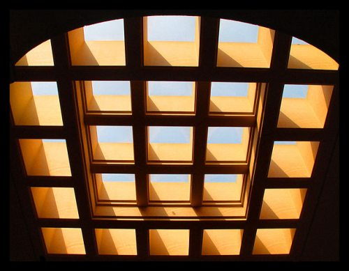 Jasa Pemasangan Kanopi Kaca Skylight Bening Rangka Besi Hollow