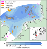 The geography of offshore wind farms in the North Sea. (Credit: technologyreview.com) Click to Enlarge.