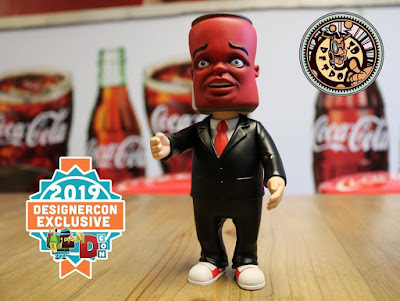 Designer Con 2019 Exclusive Coke Head Vinyl Figure by Bob Dob x 3DRetro