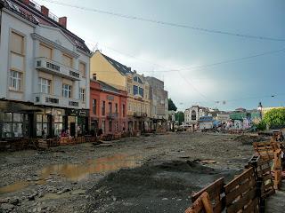 Ужгород. Пл. Шандора Петефі під час реконструкції