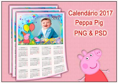 Peppa pig calendário 2017