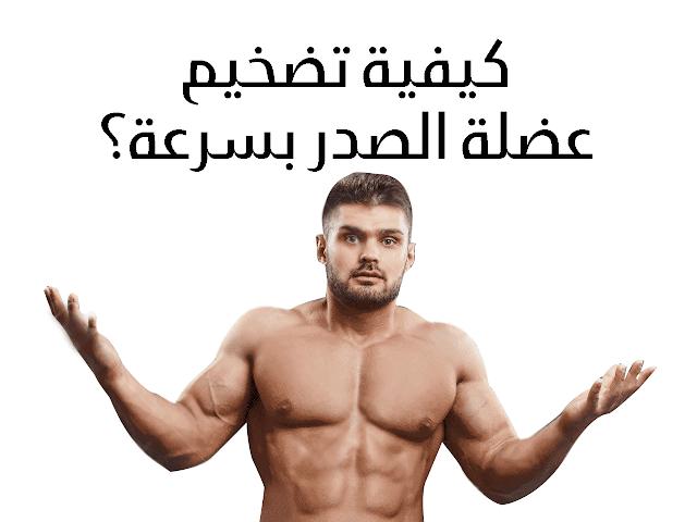 طريقة تضخيم عضلة الصدر بسرعة