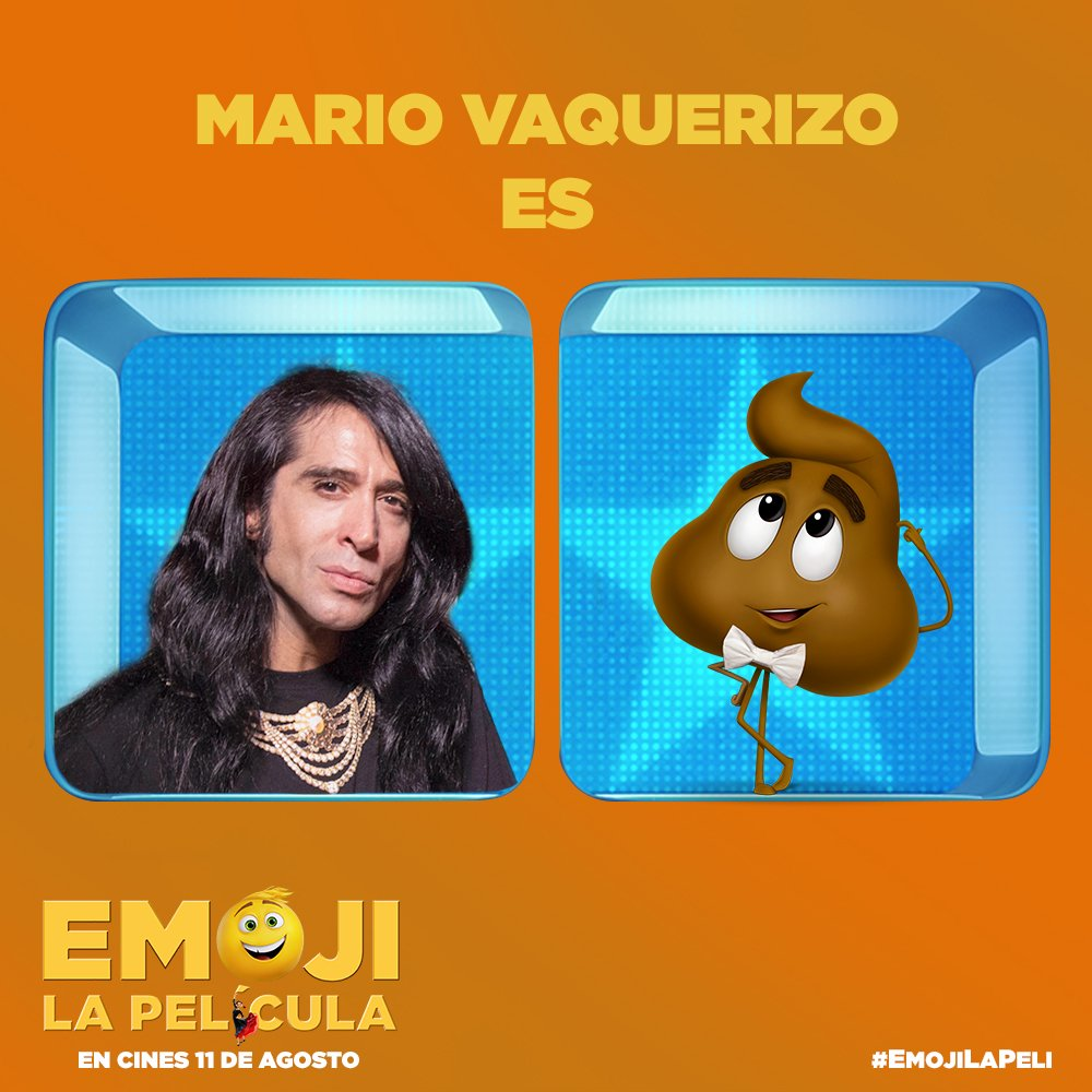 Mario Vaquerizo será el emoticono de la caca en Emoji: La película