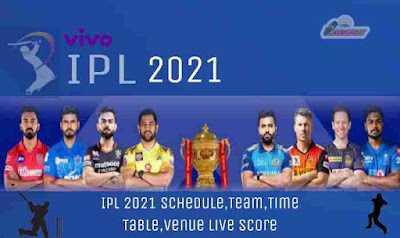 IPL Matches Time Tabel 2021