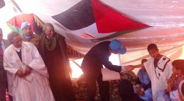 الأمين العام للأمم المتحدة يزور بلدة بئر لحلو بالأراضي الصحراوية المحررة