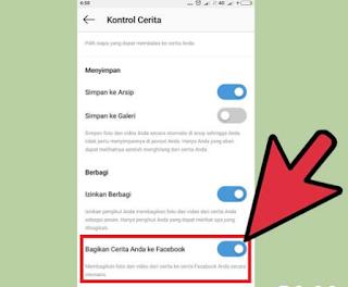 Membagikan Story Instagram Ke Facebook Otomatis