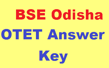 OTET Answer Key Paper 1  and Paper 2
