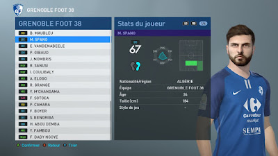PES 2019 Faces Maxime Spano by TiiToo Facemaker