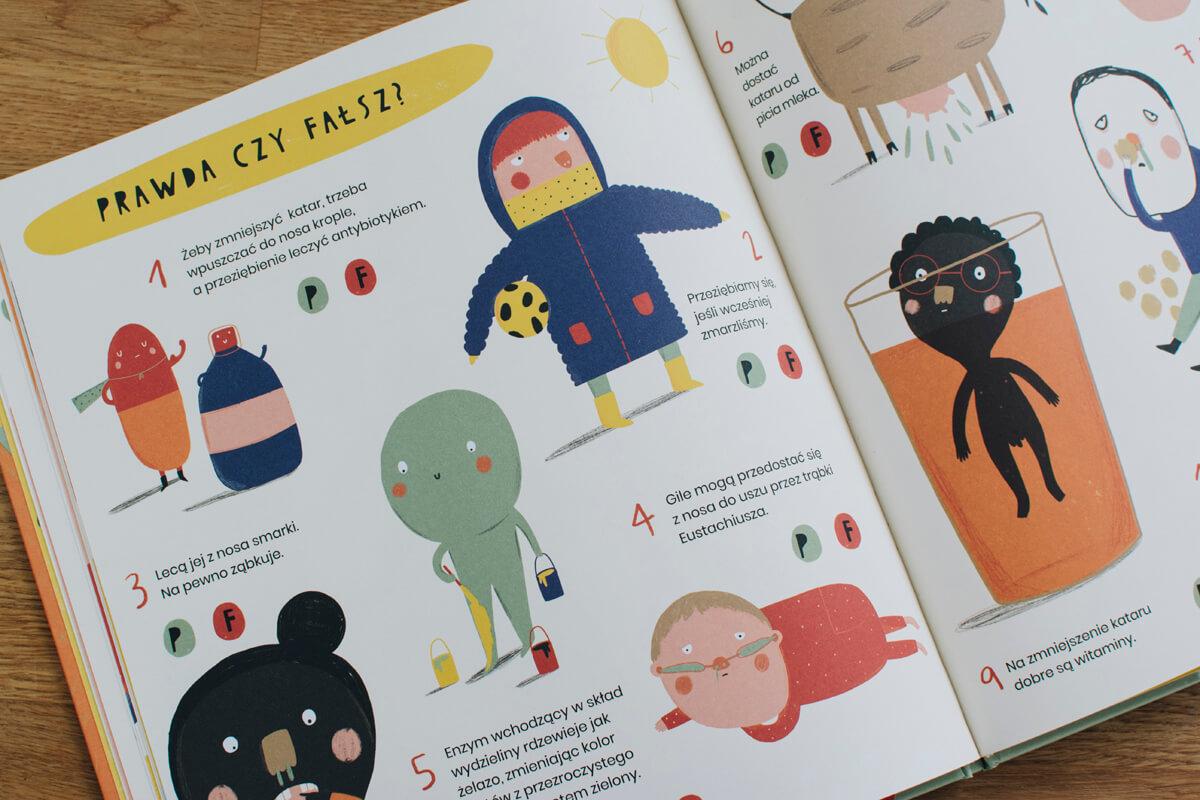 Zdjęcie wnętrza książki dla dzieci sekretne życie smarków