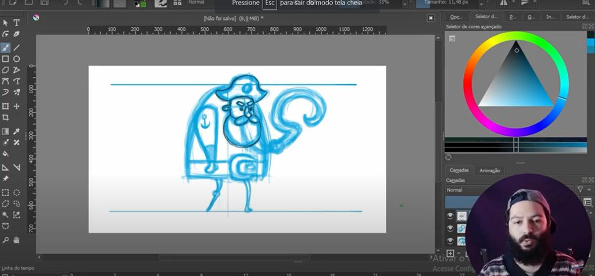 Canal Indie Power lança tutorial super fácil para desenhar um personagem para games