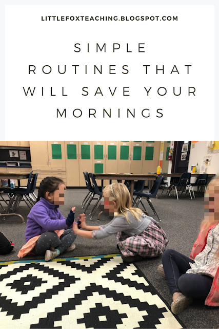 See how these simple morning routines helped me get organized and my students engaged first thing in the morning! | littlefoxteaching.blotspot.com