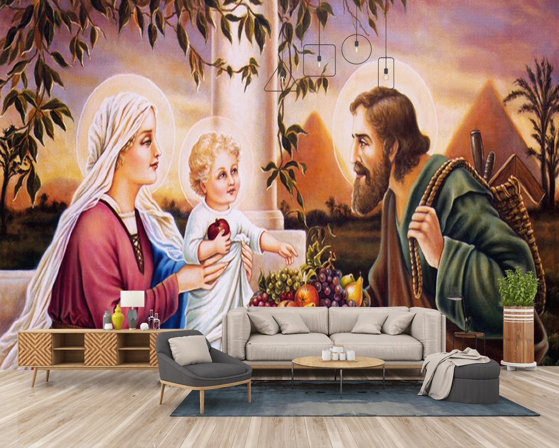 Tranh Dán Tường Công giáo Gia Đình Thánh Gia
