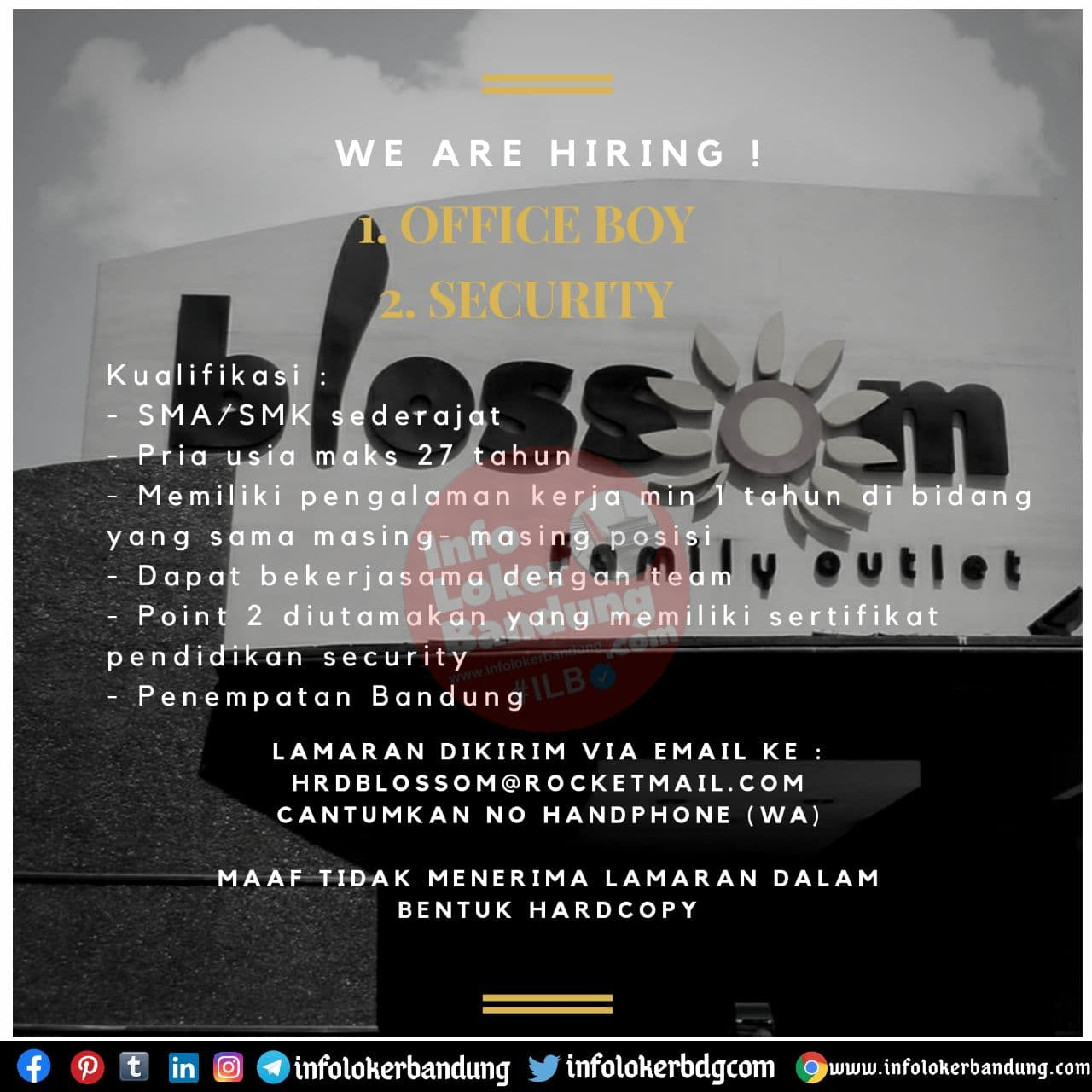 Lowongan Kerja Blossom Family Outlet Bandung November 2020