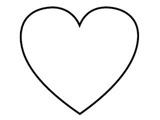תבנית לב לצביעה