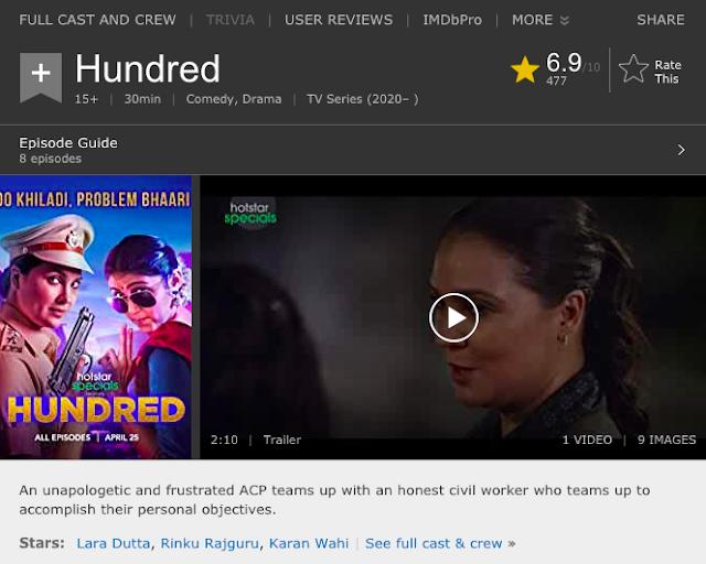 Hundred Season 1 (2020) Hindi HS Web Series 480p Download