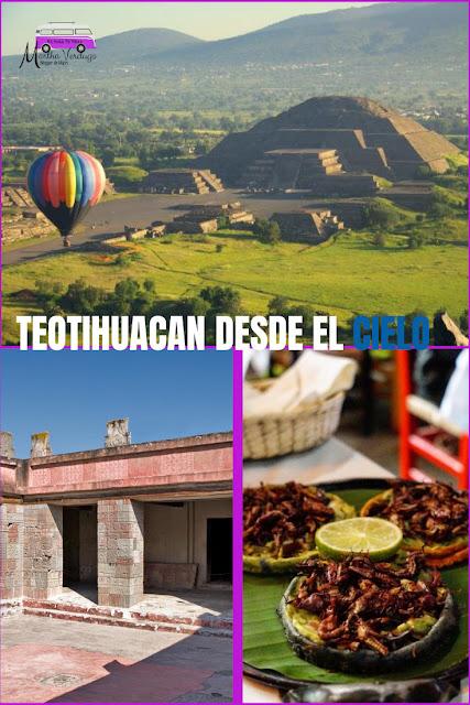 Teotihuacan, vuelo en globo, turismo en México, zonas arqueológicas