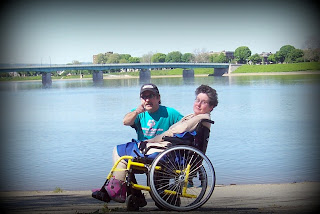 Patti and Patrick pictured along Susquehanna River onCity Island, Harrisburg, Pennsylvania
