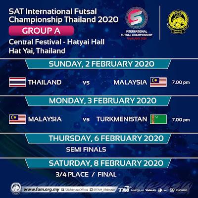 Jadual SAT International Futsal Championship 2020 (Keputusan)