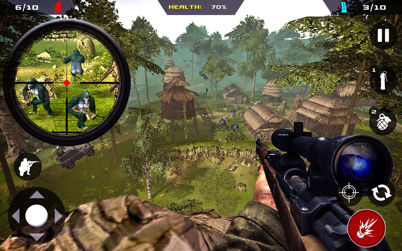 Apes Hunter Jungle Survival MOD APK