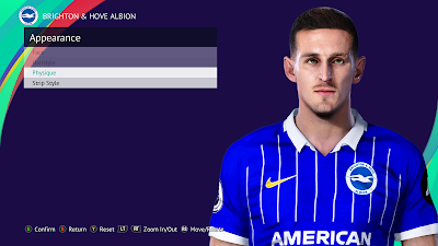 PES 2021 Faces Lewis Dunk by Qiya