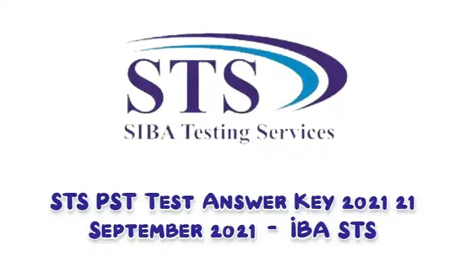 STS PST Test Answer Key 2021 21 September 2021 – IBA STS