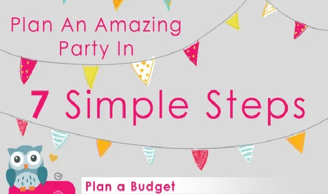 How To Plan A Party In 7 Easy Steps #infographic