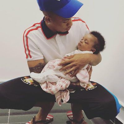 Adorable photo of Tekno and his lovely daughter Skye
