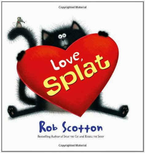 Love, Splat, part of children's book review list about Valentine's Day