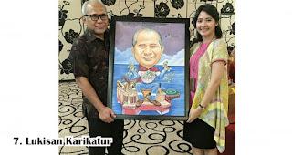 Lukisan Karikatur adalah Hadiah Menarik Dan Berkesan Untuk Guru
