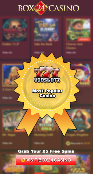 25 Free Spins - Top Casino at Vidslotz