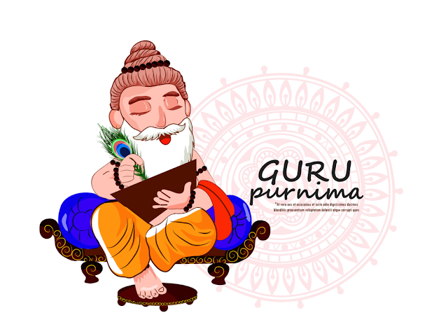 illustration guru purnima nepalese indian festival
