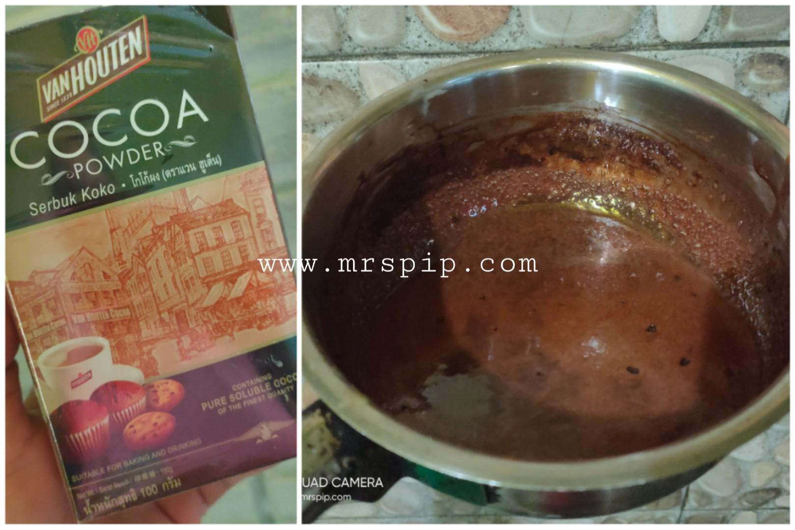 resipi sos coklat mudah buat