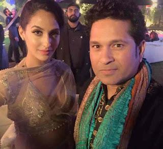 Nora Fatehi With Sachin Tendulkar