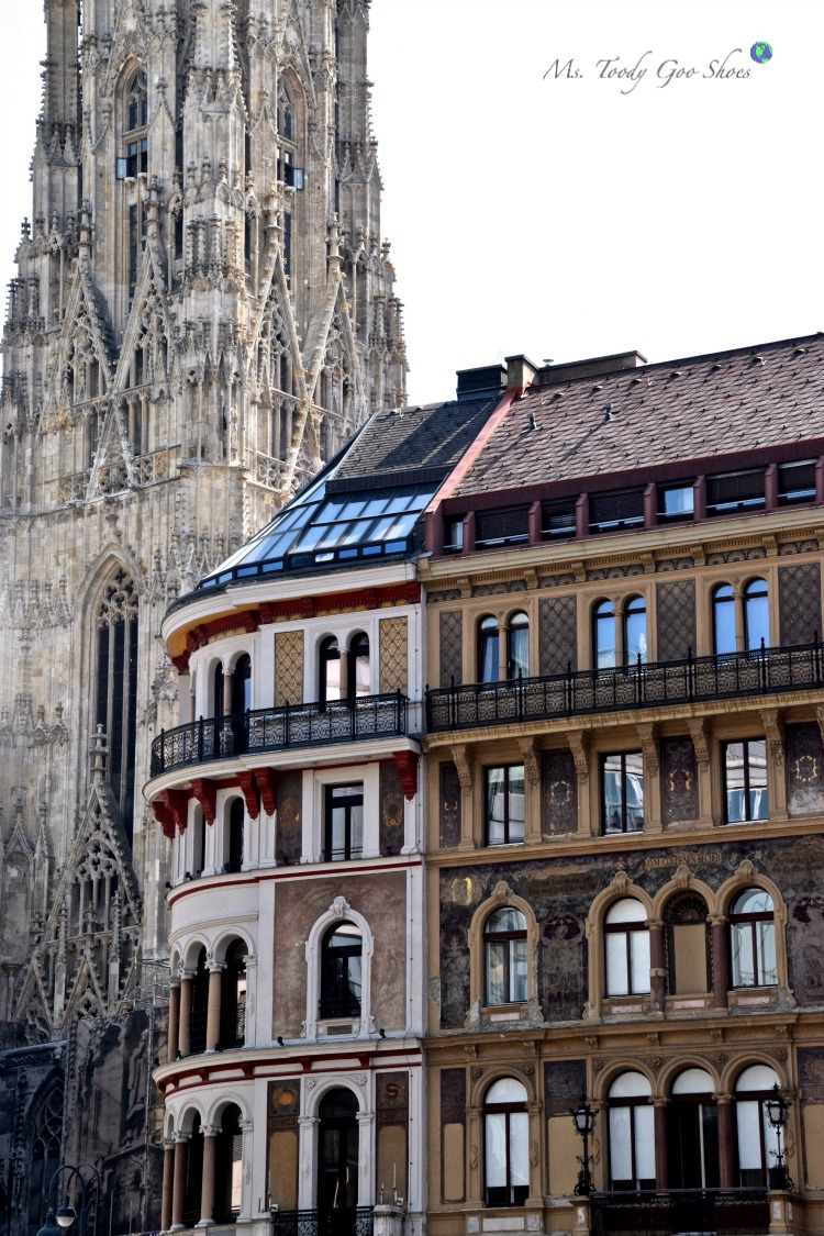 St. Stephen's Cathedral: Vienna's old town intoxicates visitors with its grandiose architecture! | Ms. Toody Goo Shoes #ststephenscathedral #vienna #austria #danuberivercruise