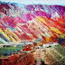 Unique Rainbow Mountain in Zhangye Danxia Park National Geological Park China