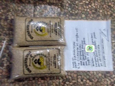 Benih padi yang dibeli DEDE FIRMANSYAH Sukabumi, Jabar. (Sebelum packing karung ).