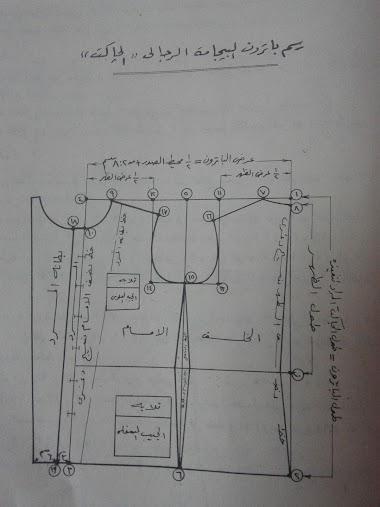 رسم باترون البيجامة الرجالى (اولا:الجاكيت)
