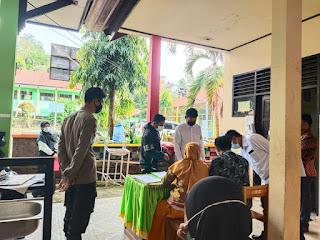 Kanit Binmas Bersama Bhabinkamtibmas dan Babinsa Desa Melakukan Monitoring Pelaksanaan PPPK
