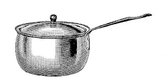 sauce pan antique cooking kitchen image digital download
