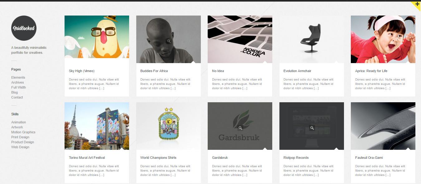Gridlocked- WordPress grid Theme