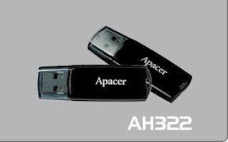 Apacer AH322 USB Flash Drive format tool
