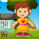 Games4King Little Pretty Girl Rescue Walkthrough