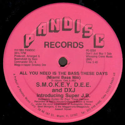 S.M.O.K.E.Y. D.E.E. And DXJ Introducing Super J.B. – All You Need Is The Bass These Days (1988) (VLS) (FLAC + 320 kbps)
