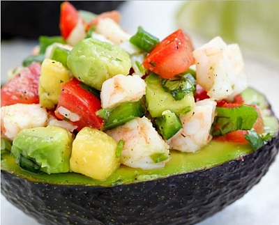 EASY AVOCADO SHRIMP CEVICHE RECIPE #veganfood